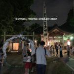 多奈波太神社の輪くぐりと赤丸神事