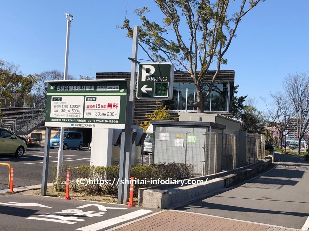 名城公園北園駐車場