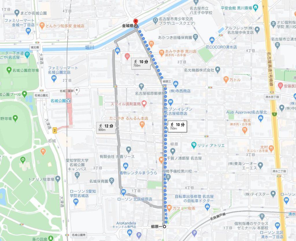 開催区間の地図